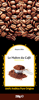 CAFE ARABICA EN GRAINS 250G
